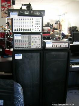 sound desks and speakers