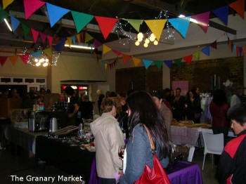 the granary market in full swing