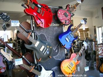 vibrant guitar displays