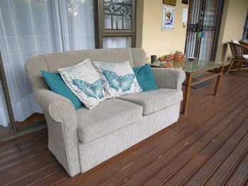 Couch in front of Family Room No.2