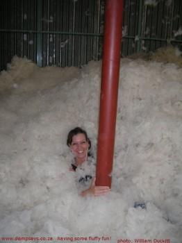 having fun in the fluff
