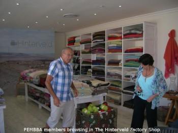 pembba members enjoying the factory shop at hinterveld