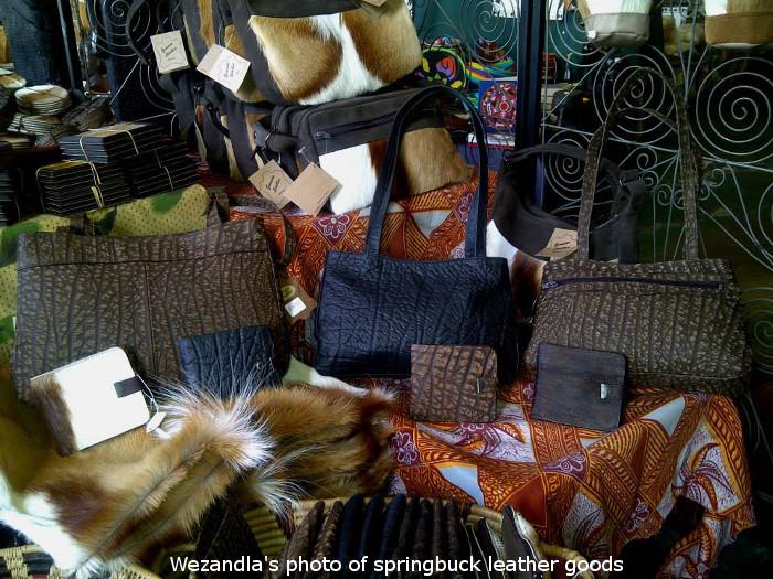springbok leather goods at wezandla