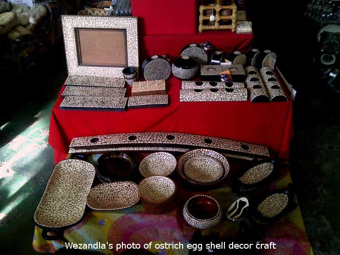 crafts decor with ostrich egg shell at wezandla