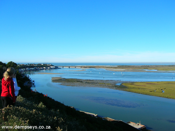 bluewater bay, amsterdamhoek and swartkops river mouth in the distance