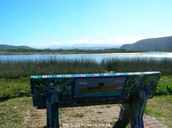 magnificent mosaic bench in a magnificent spot, sedgefield, sa